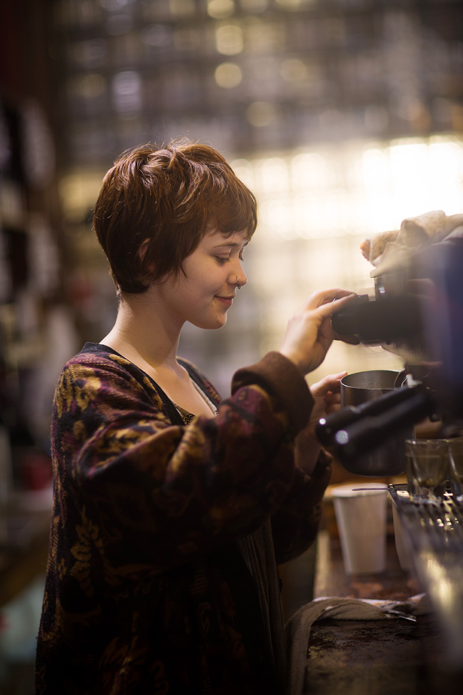 Seattle Barista Business Portrait