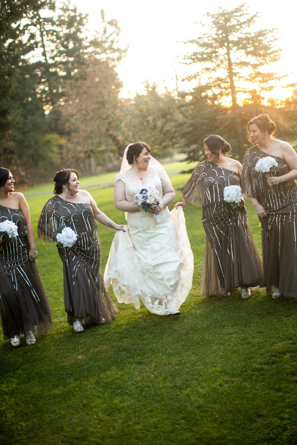 Kelley Farm Wedding Bride and Bridesmaids