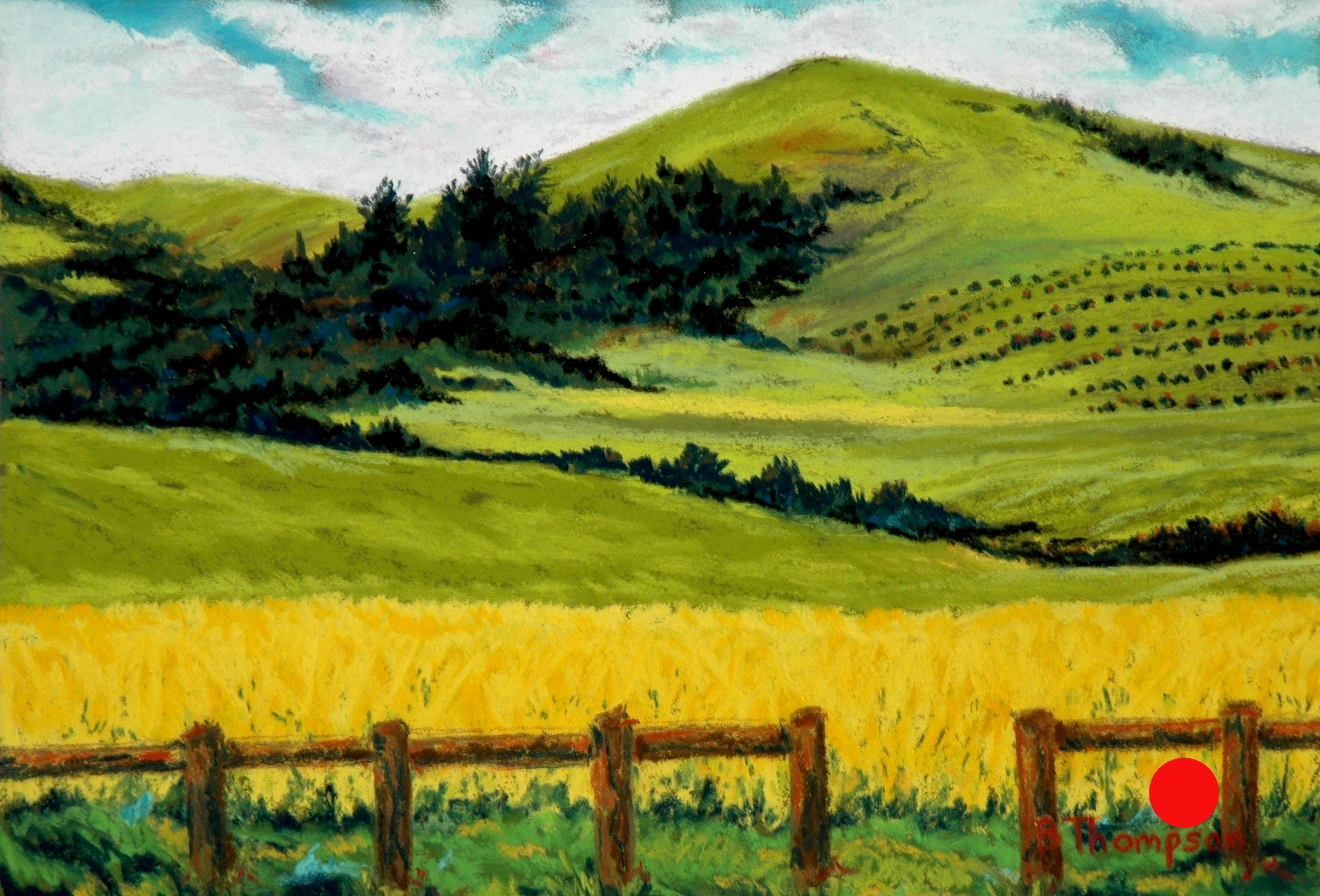 Mustard fields- Pastel