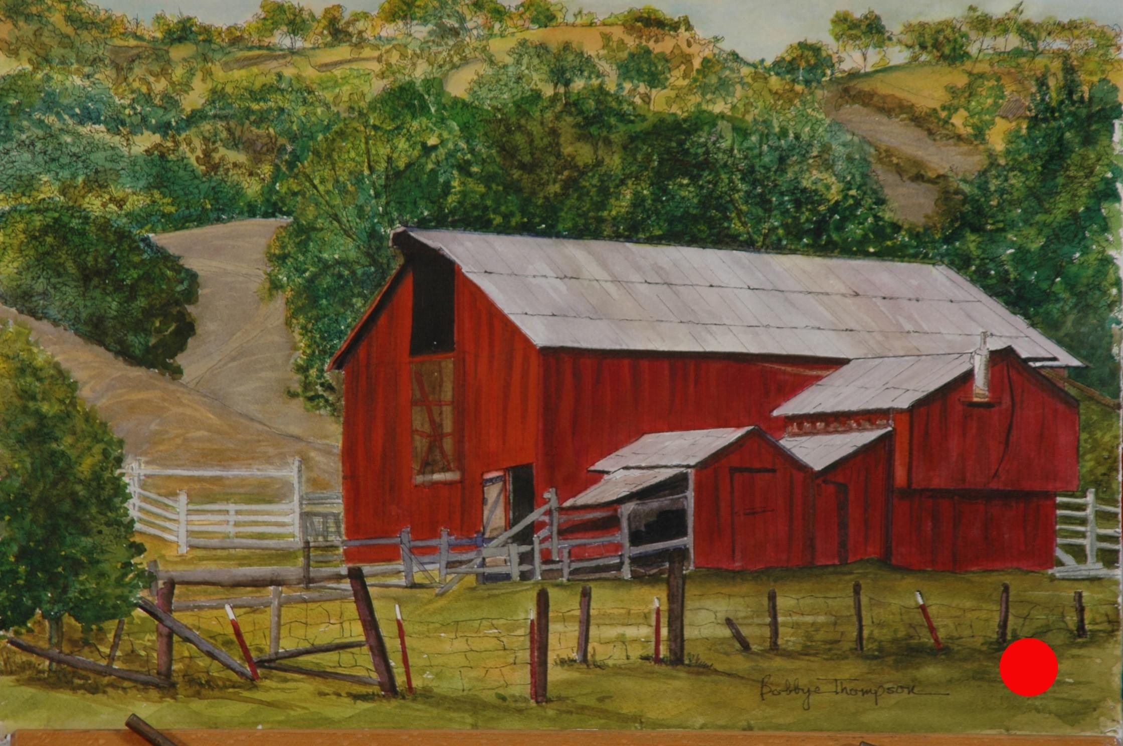 Cambria Barn - Watercolor