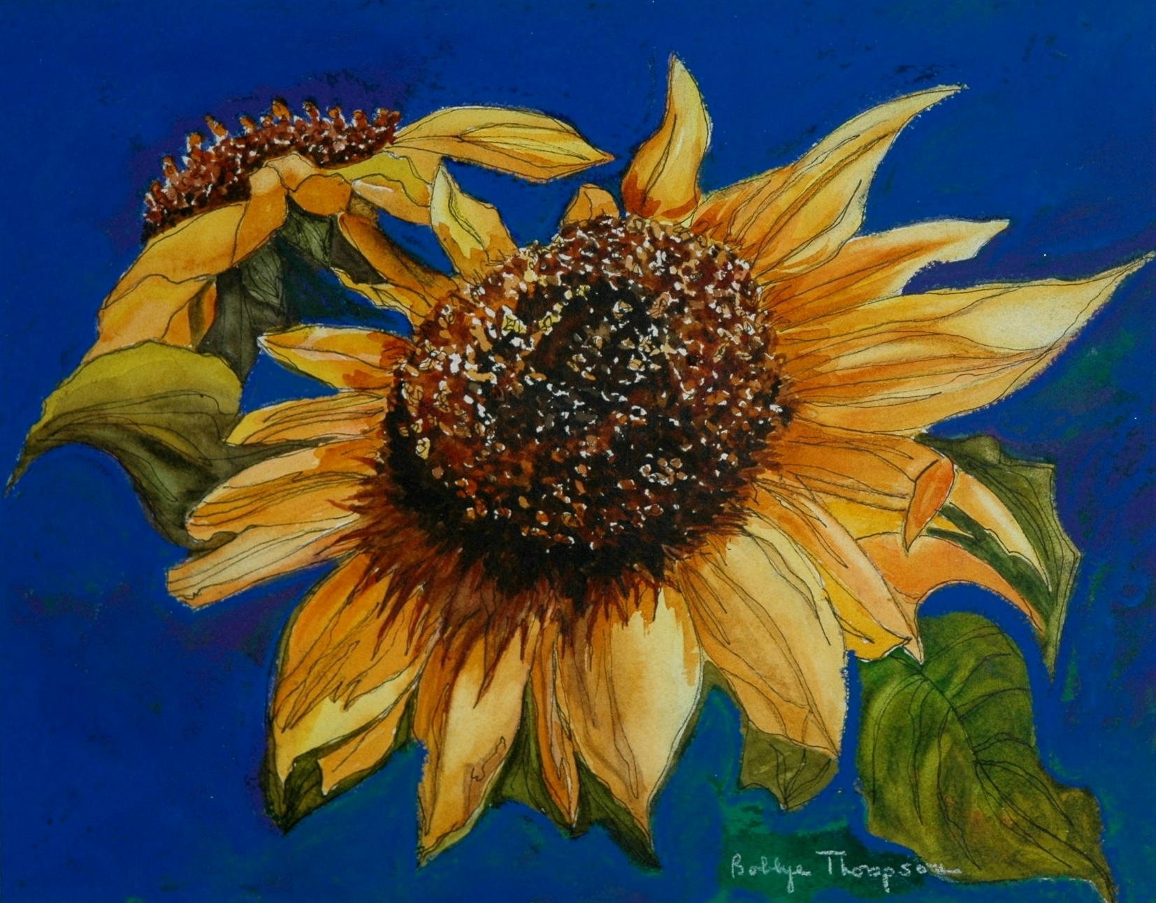 Sunflower - Watercolor & Pastel.jpg