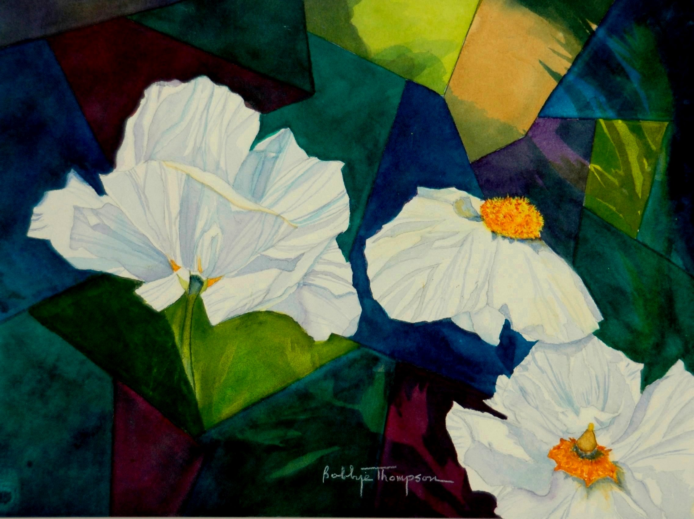 Matilija Poppies & Stained Glass.JPG