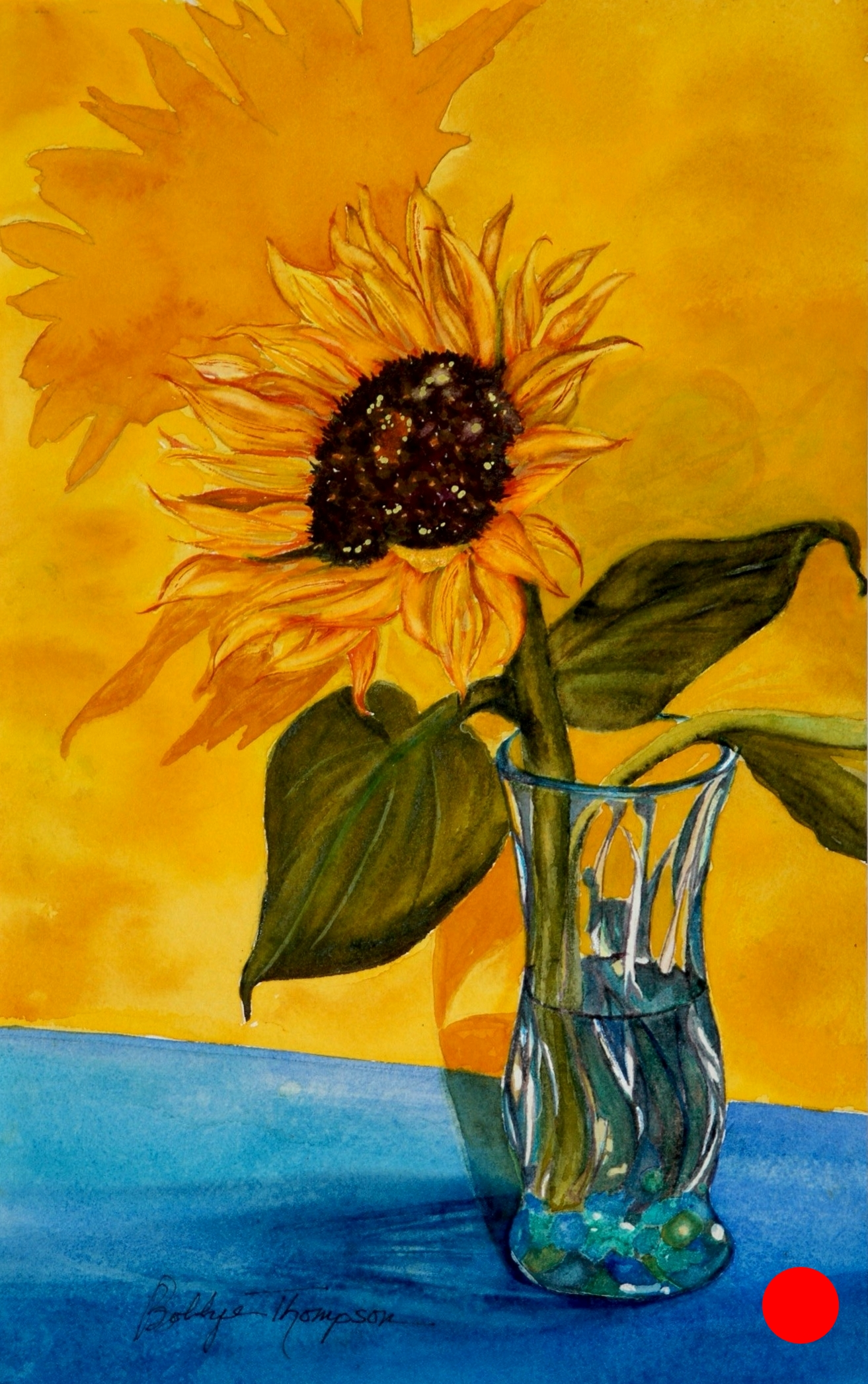 Sunflower and Shadows