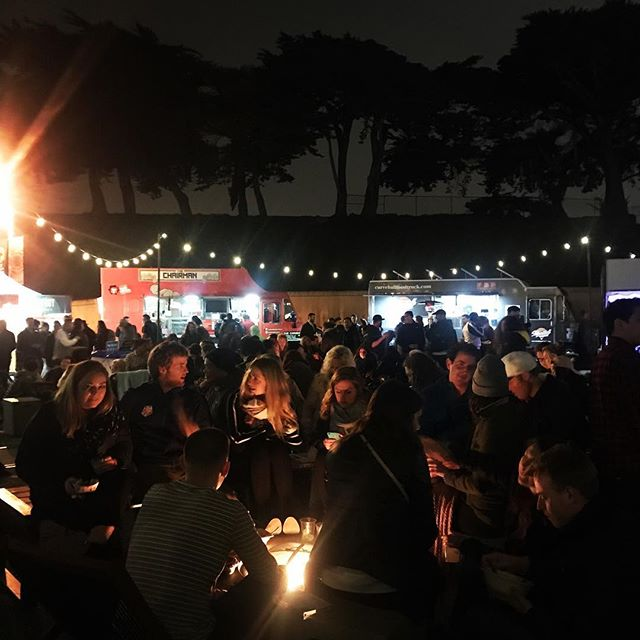 launched a new season with food trucks and fire pits