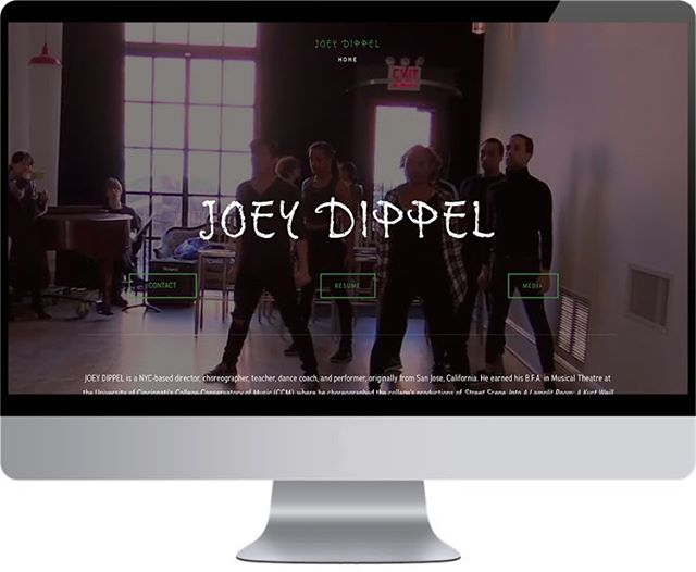 Look who joined the fam! NOW LIVE! Such a pleasure working on this one! Check out JOEYDIPPEL.COM now to see his amazing work! @jjskinnydippz