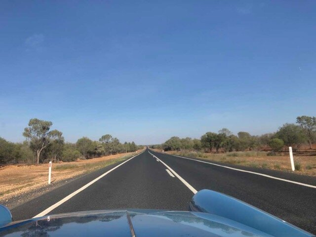 The road between Cobar and Wilcannia