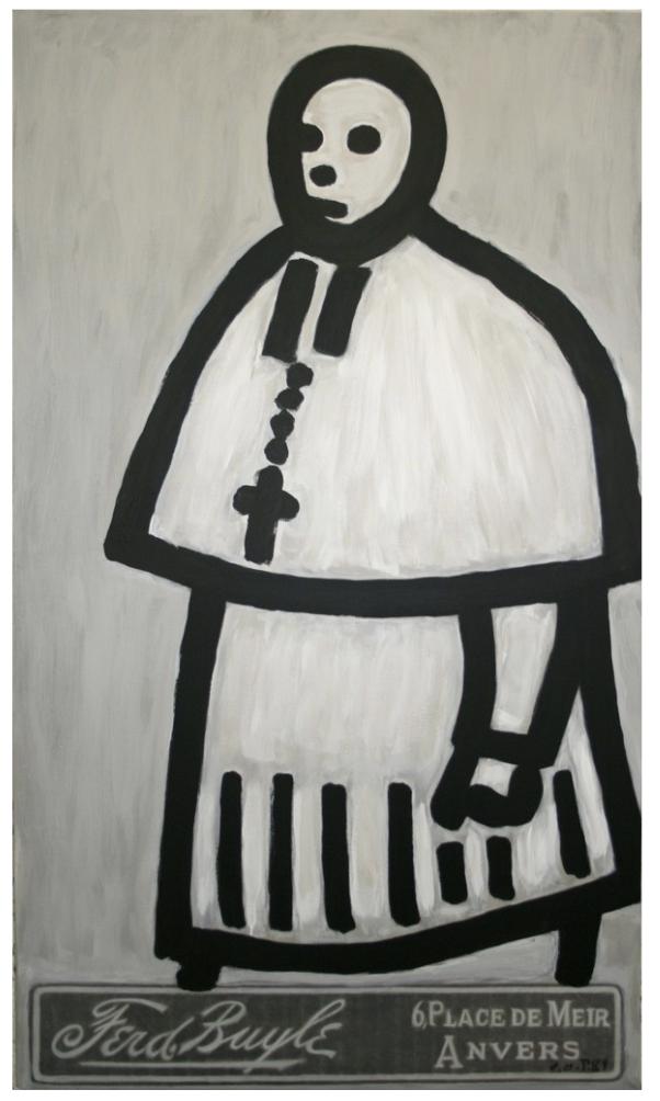 C.O. Paeffgen , Bischoff , 1989, Acrylic on canvas, 66 9/10 × 37 4/5 in; 170 × 96 cm