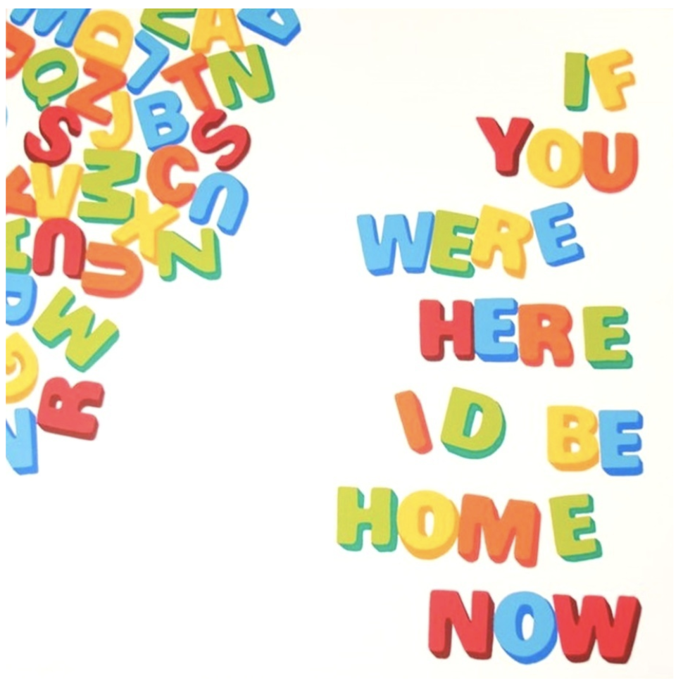Stephen Powers , If You Were Here I'd Be Home Now , 2012, 10 Color Silkscreen Print on 335 GSM Coventry Rag, signed and numbered (unframed), 24 × 24 in; 61 × 61 cm.