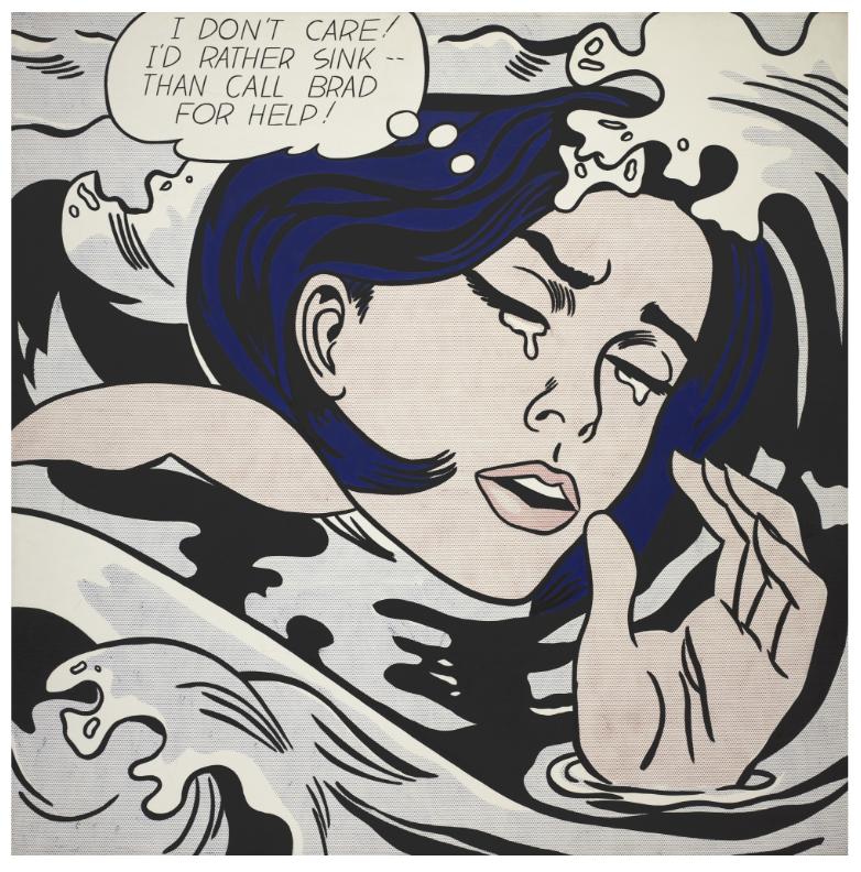 Roy Lichtenstein, Drowning Girl, 1963