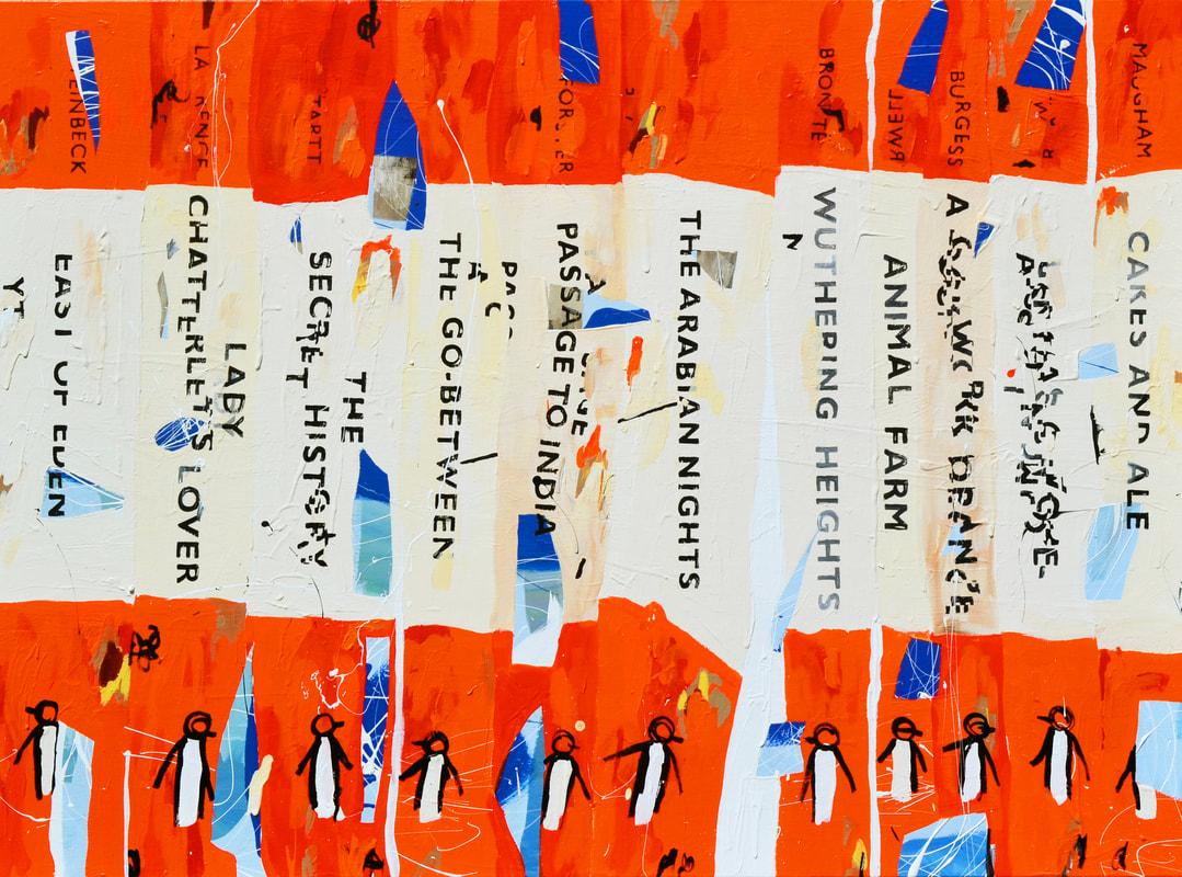 Ben Tankard,Unpopular Penguin 200, 2017, acrylic on canvas, 150cm x 110cm