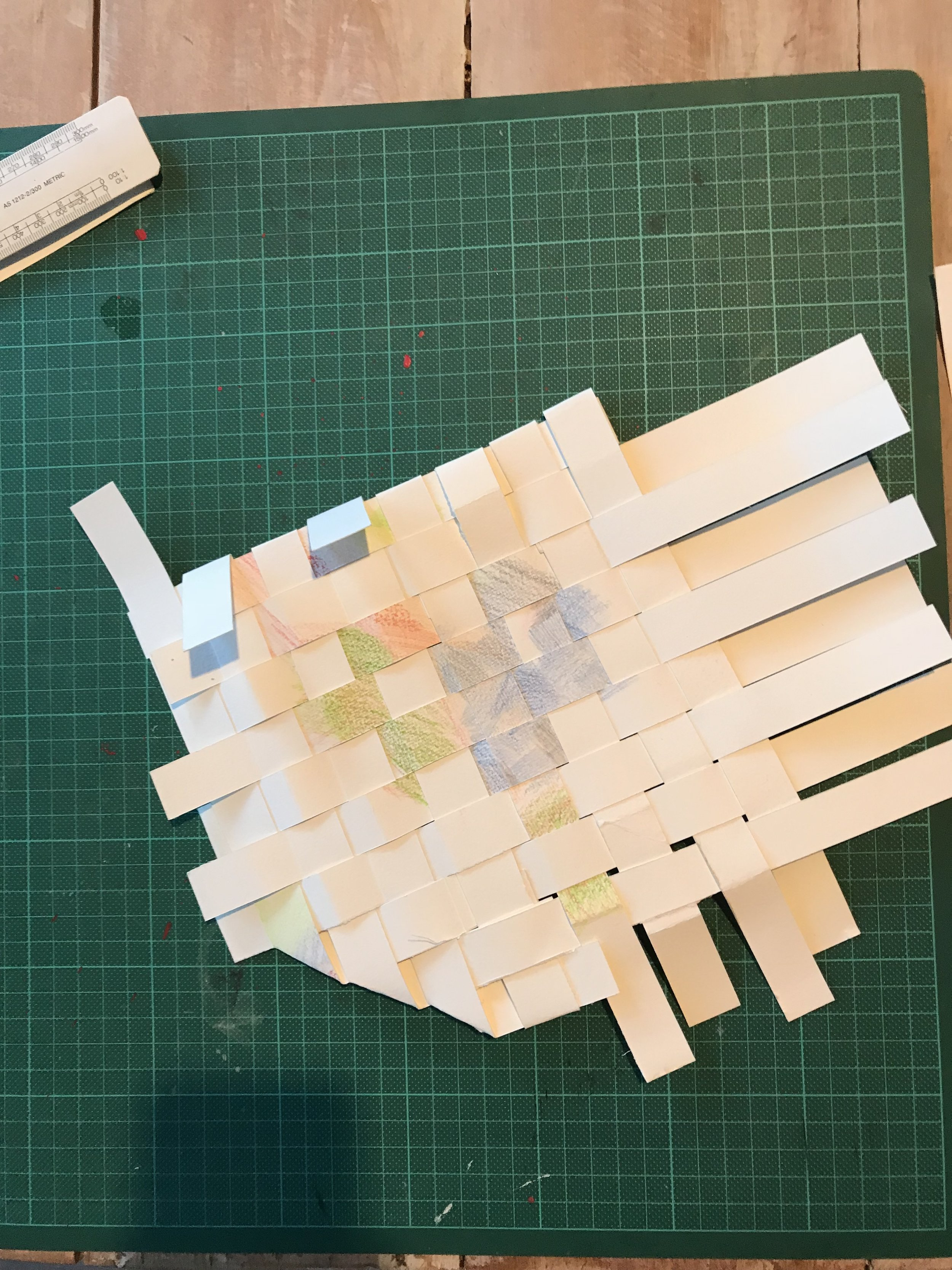 Experimenting with paper creating banig