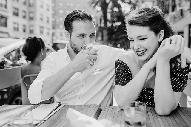 dinner date vibes. // #chicagoengagementsession #professionalthirdwheel #chicagoweddingphotographer #engagementphotos #esession #chicagoweddings #candidmoments #thatsmilethough #cocktaildate