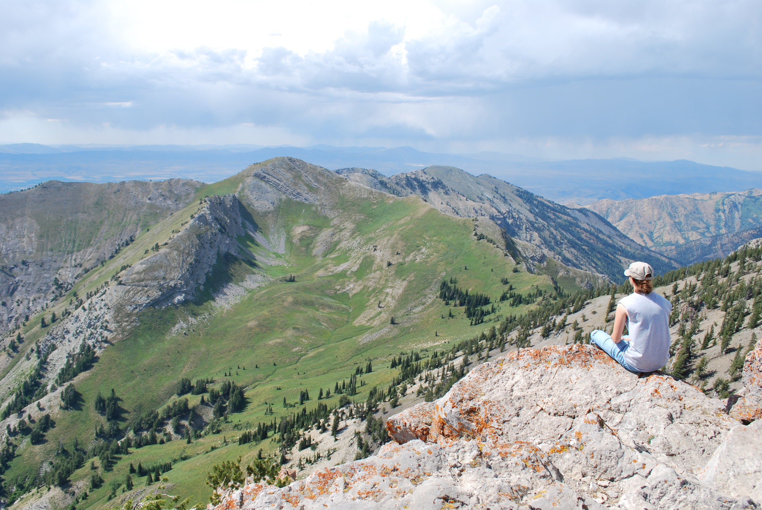 Taking in the sites, Cherry Peak in the background