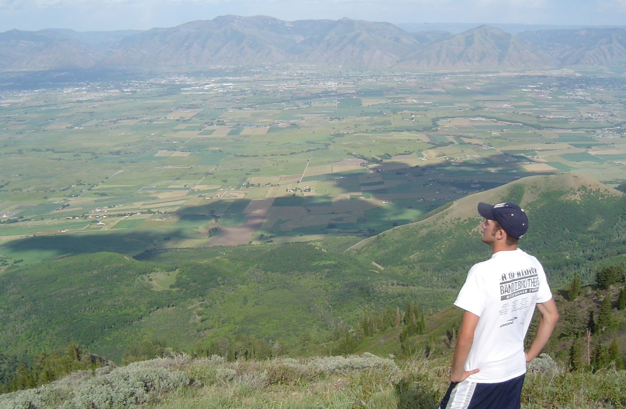 Standing on the knife's edge...Beautiful Cache Valley looming below