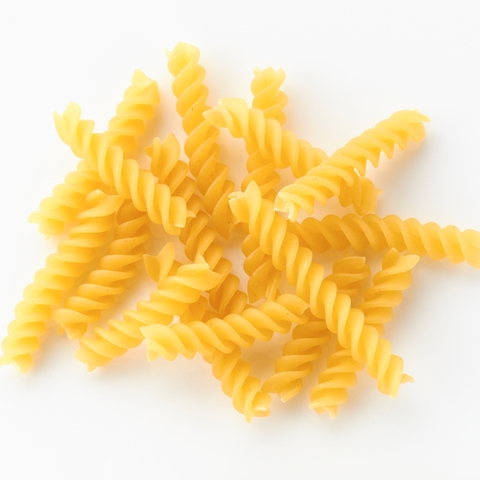FUSILLI: Corkscrew-shaped pasta.