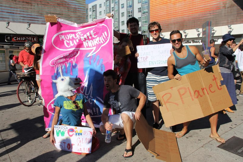 Documentation of Social Practice Build to Climate March