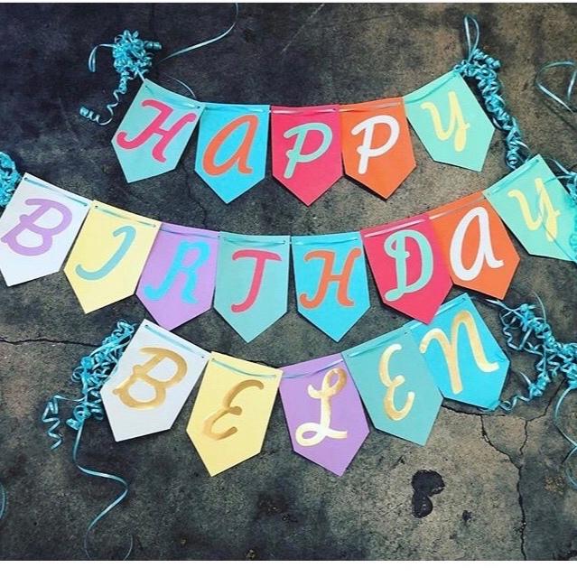 Custom Birthday Banner