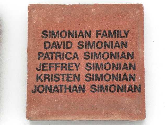 $250.00  Brick available for purchase by clicking the photo of this brick!
