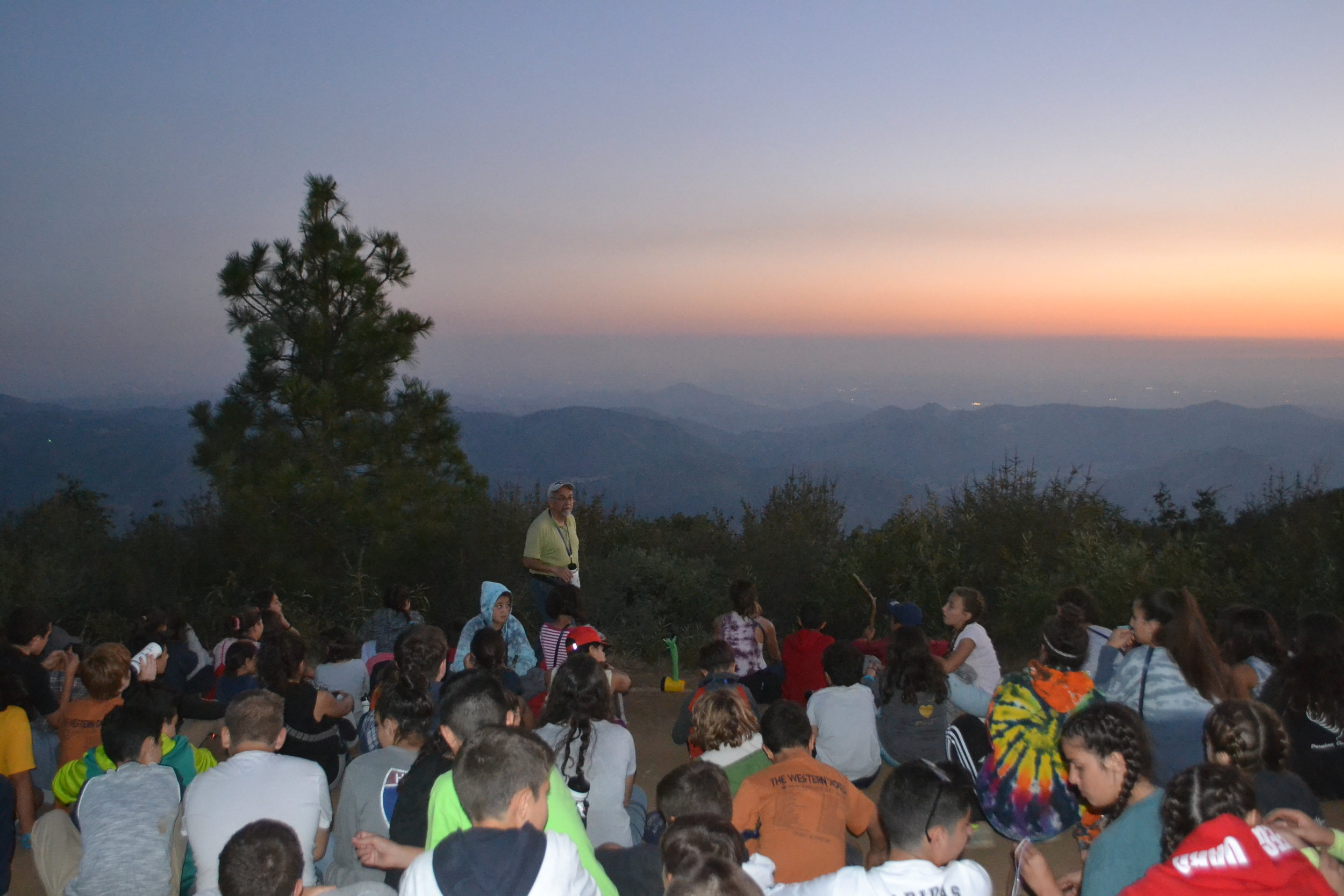 Der Sarkis gave a moving devotional on the top of the mountain overlooking the beautiful Central Valley