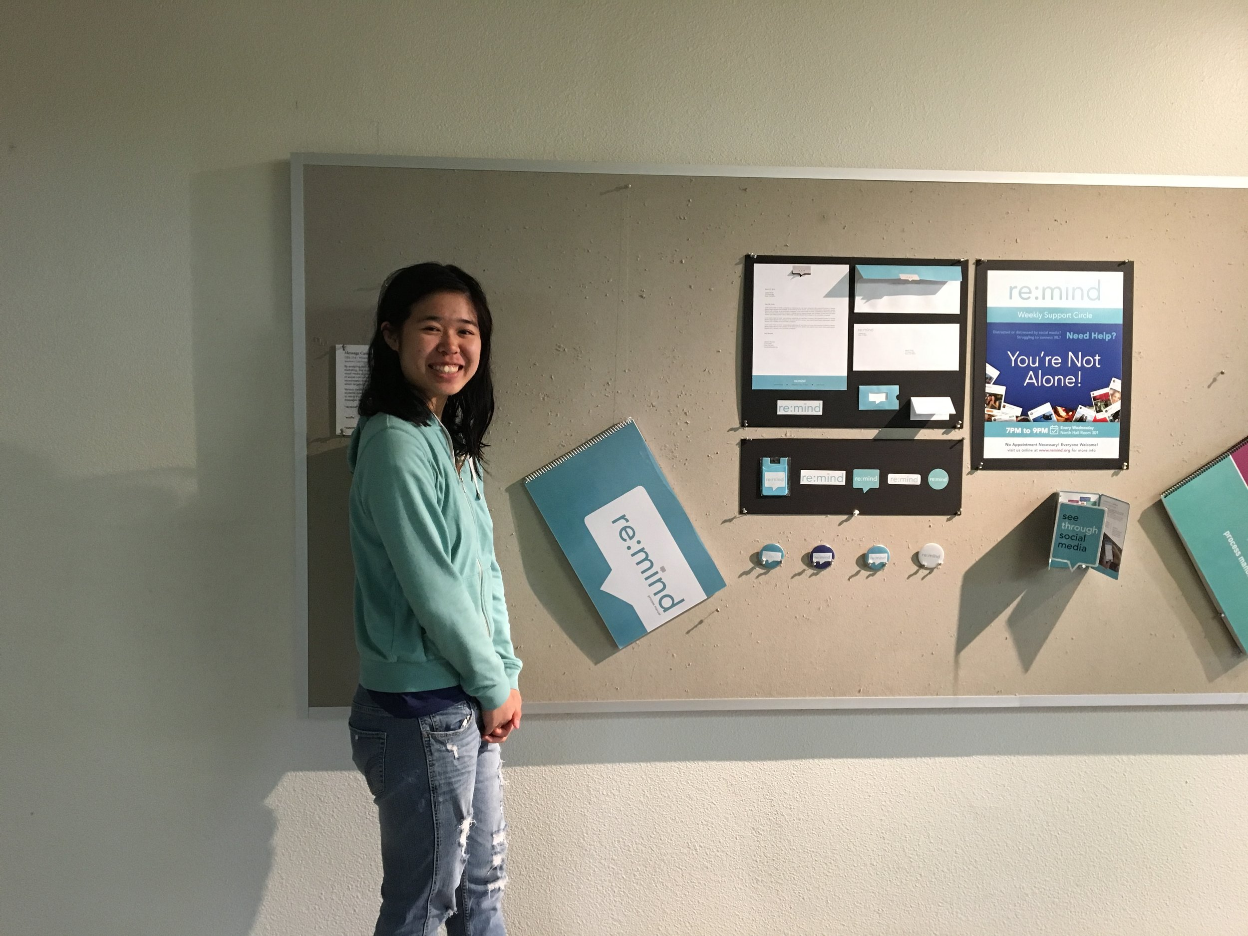 Our campaign was displayed in the Design building, Cruess Hall.