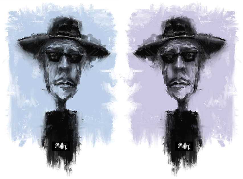 "My two Bobs worth.. A recent portrait of ""the man in the long black coat""."