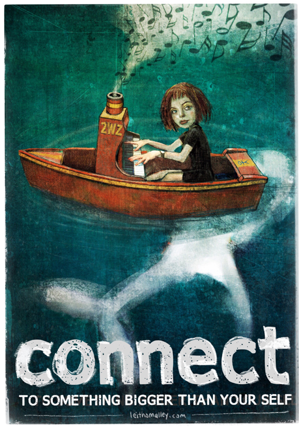 'connect' illustration : © Leith O'Malley 2018