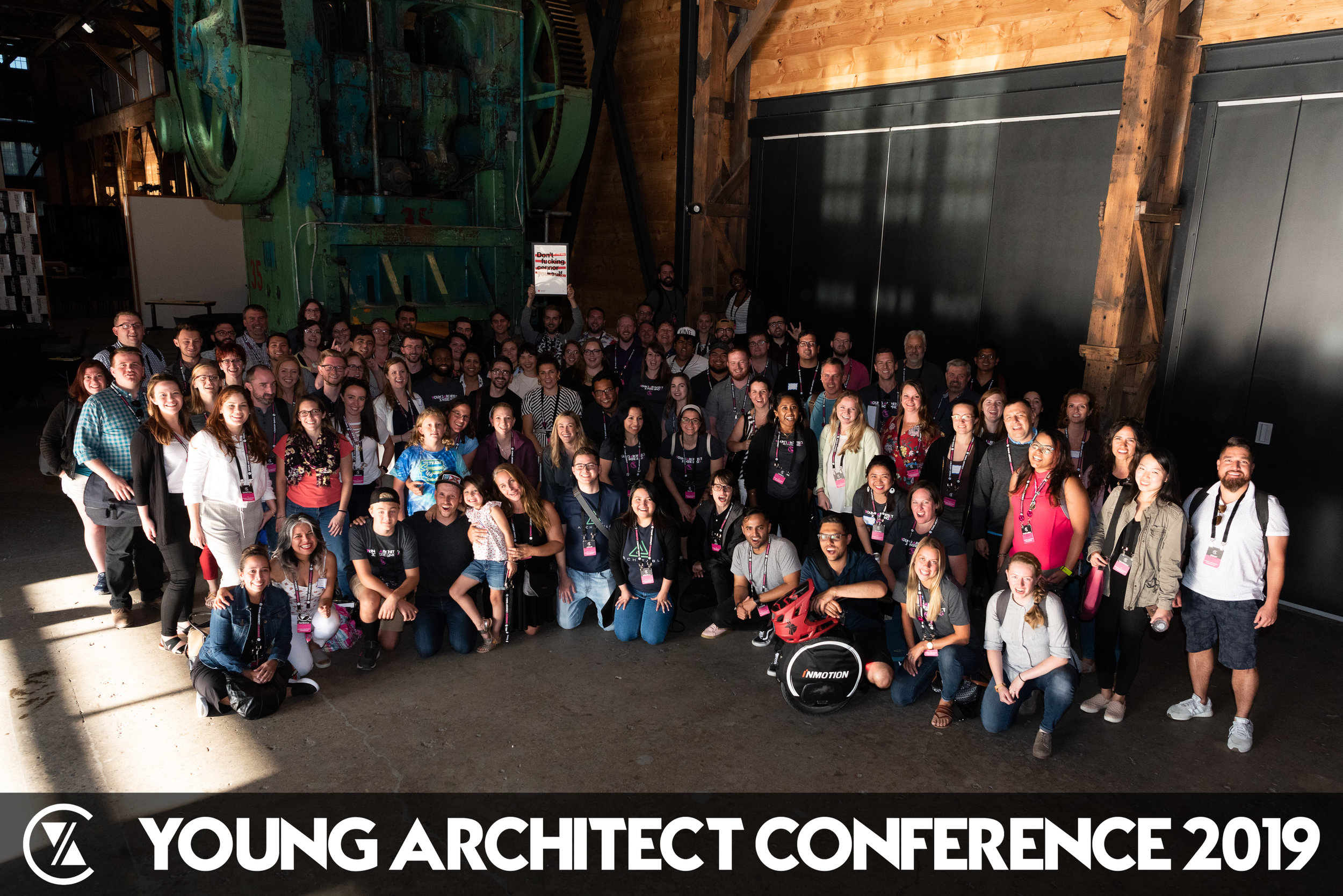The Young Architect Conference 2019 Class Photo. Photo Credit:  @niou.photo