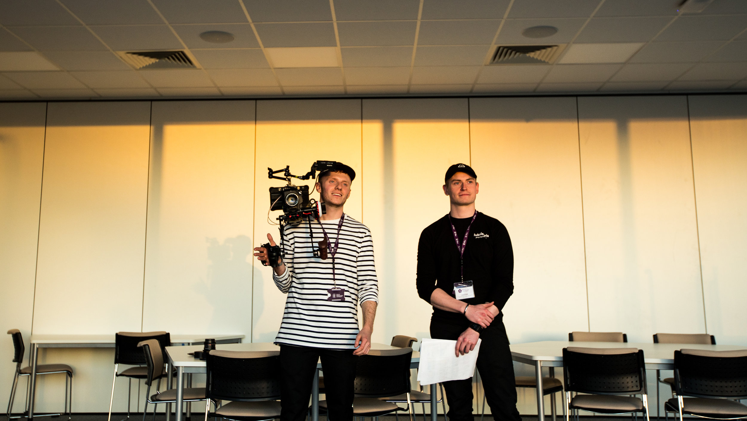 Luke and Adam working at Bishop Grosseteste University