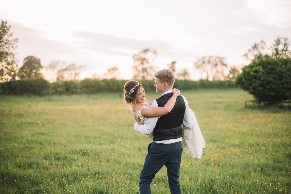 Northumberland wedding photographer, golden hour wedding photos, Lucie Watson Photography