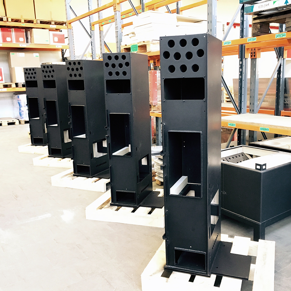 Locally manufactured - All Tiba-Made stoves and kitchens are produced and assembled in Bubendorf, Switzerland.