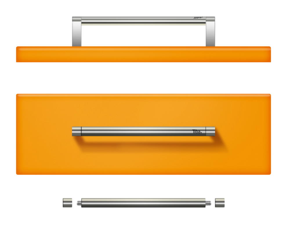 accessoiries - Besides developing stoves and kitchens, I had the chance to design a range of handles and air-flow controls for the kitchen line-up.