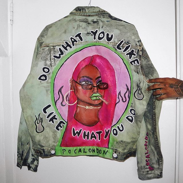 Do what you like, like what you do 💘 Hand painted jacket is up on @Depop 💘 #POCALONDON