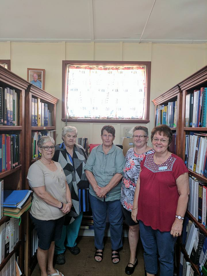"""Huge thanks to the """"Roma and District Family History Society Inc"""", some of the wonderful volunteers pictured here, who have set them selves the mammoth task of recording and indexing all of the Roma areas paper history. For $30 these captains of history will seek out all the info they can on your history. What a bloody top community service!! Click here to link to their facebook page!"""