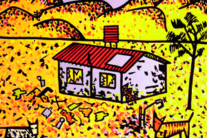 Town camp drawing by the late Paul Pholeros