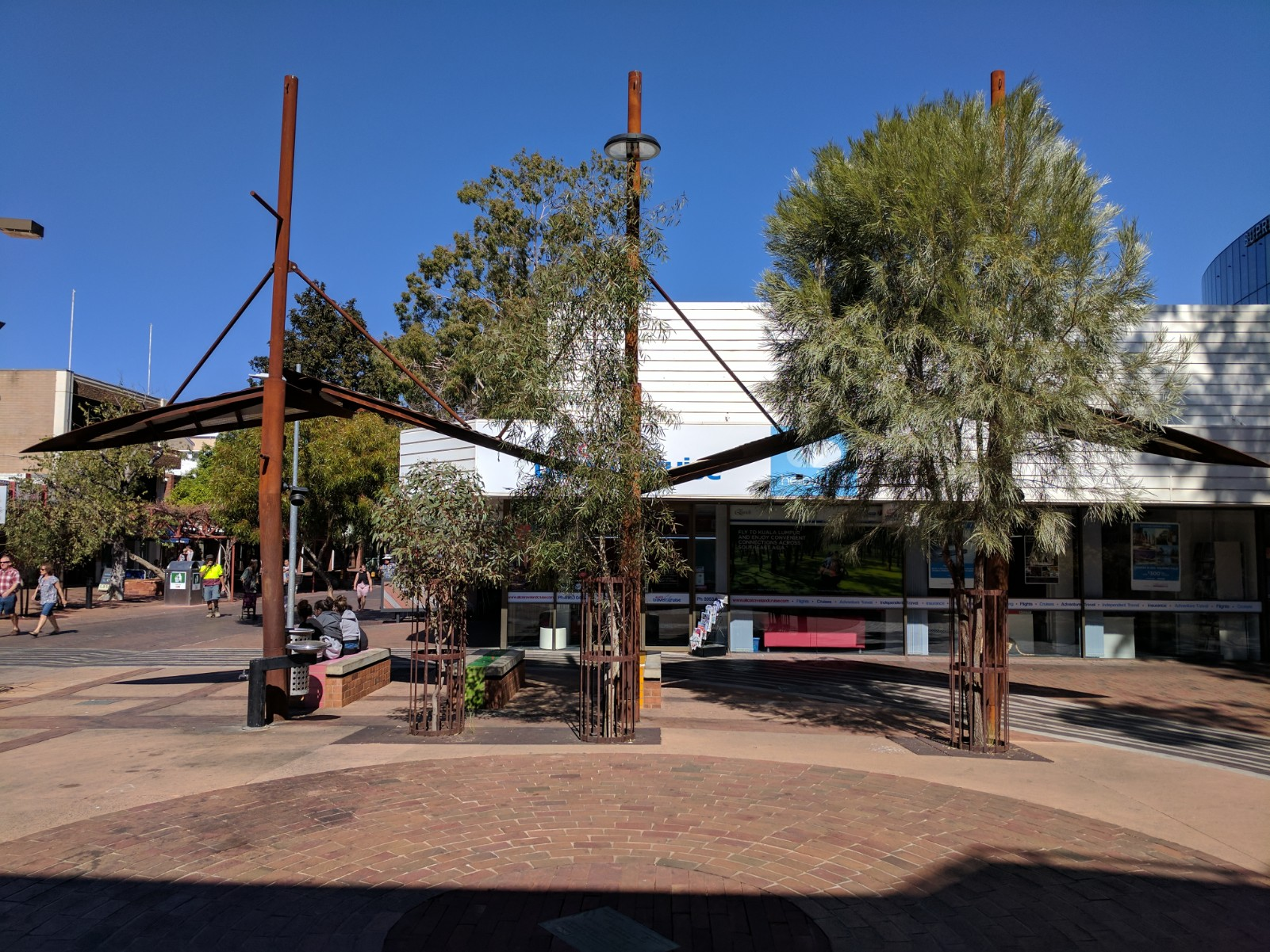 Moth shade structures & power points, Sue Dugdale & Assoc.