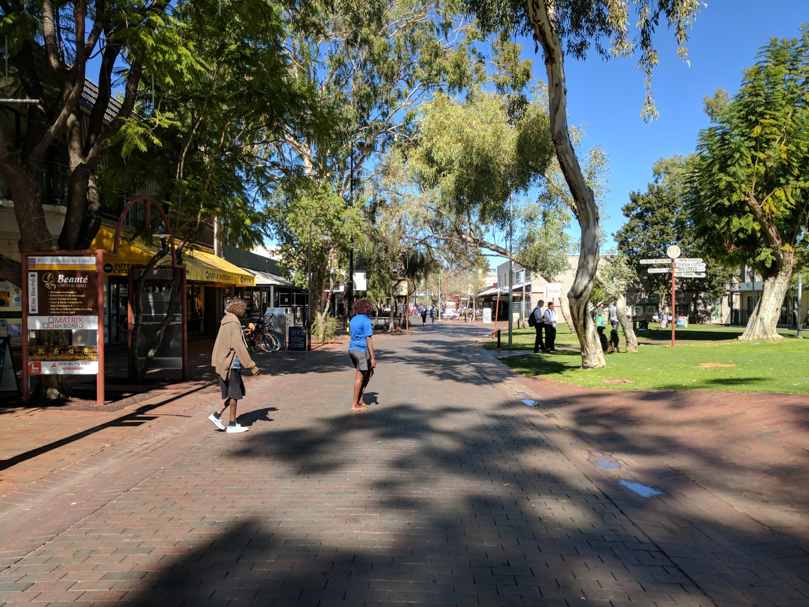 Todd Street Mall, lawn area to sit, stay and sell paintings