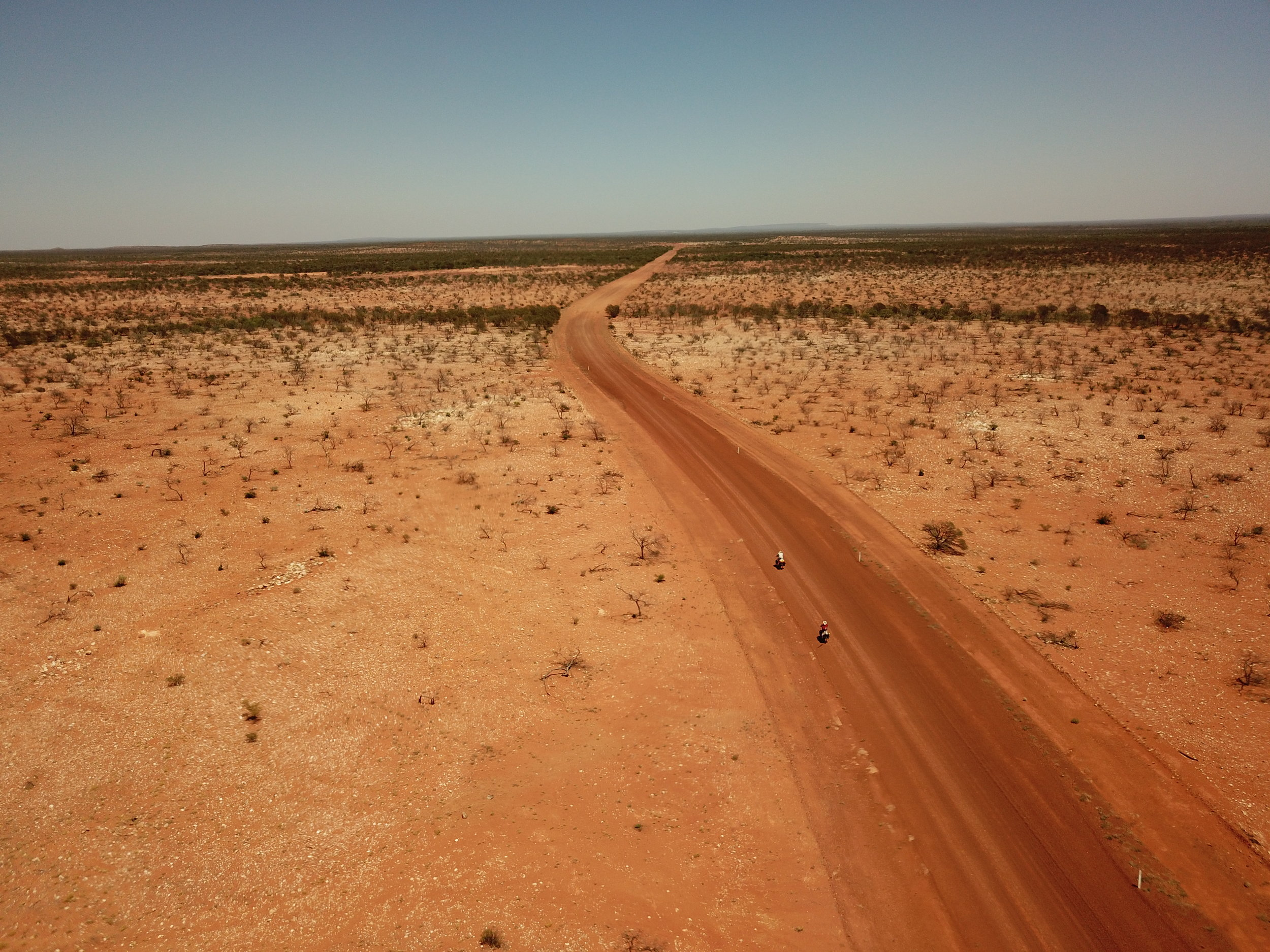 Riding out of Wooleen property.