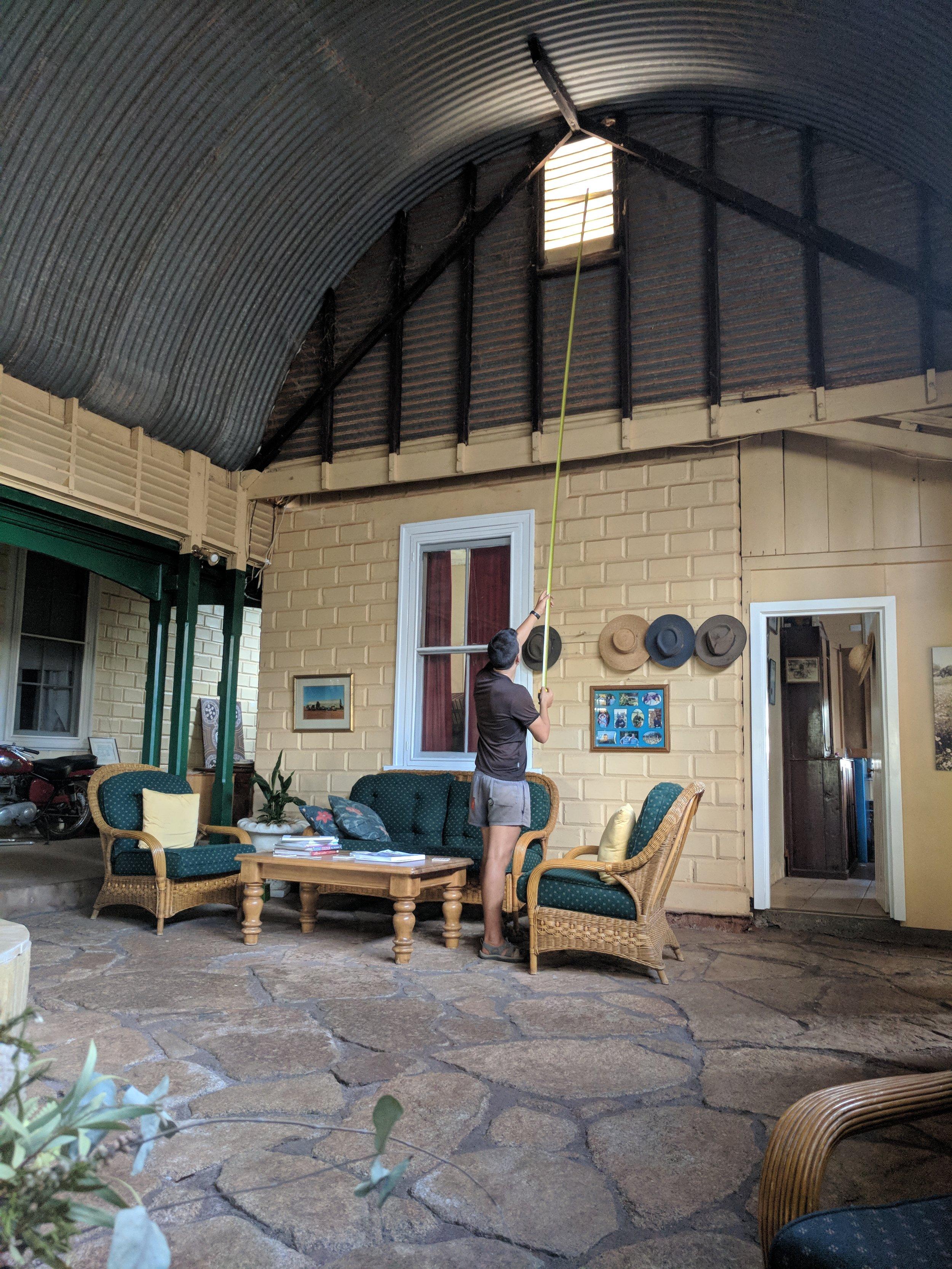 Atrium space at the homestead