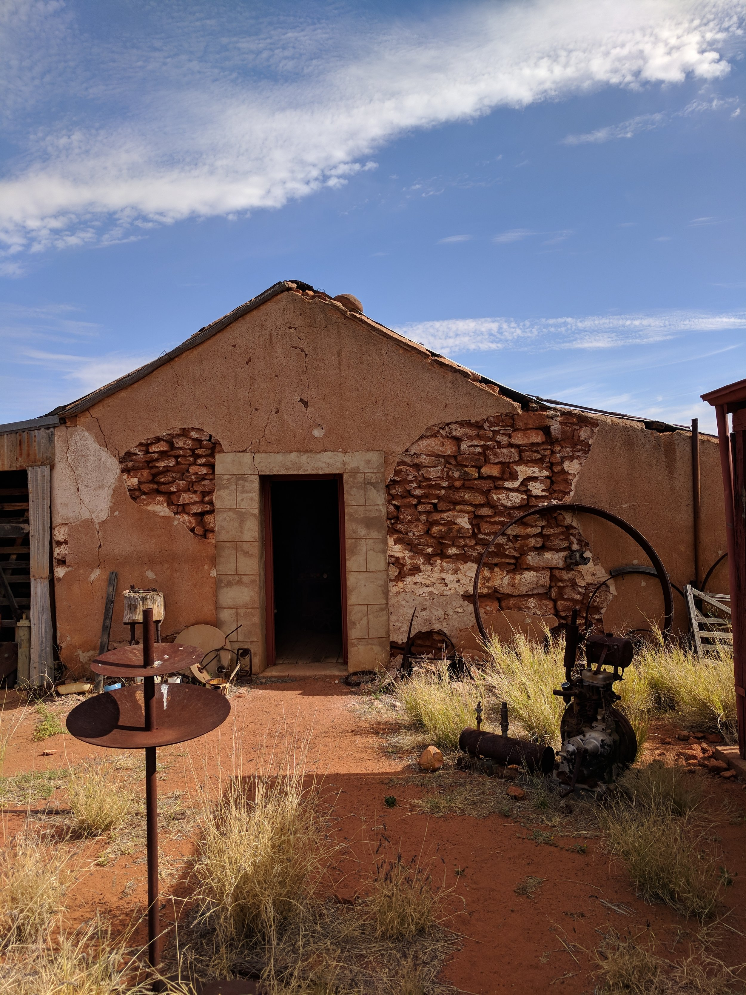 """The """"bowerbird museum"""" built in the style of many of the early buildings. Local stone and plaster."""