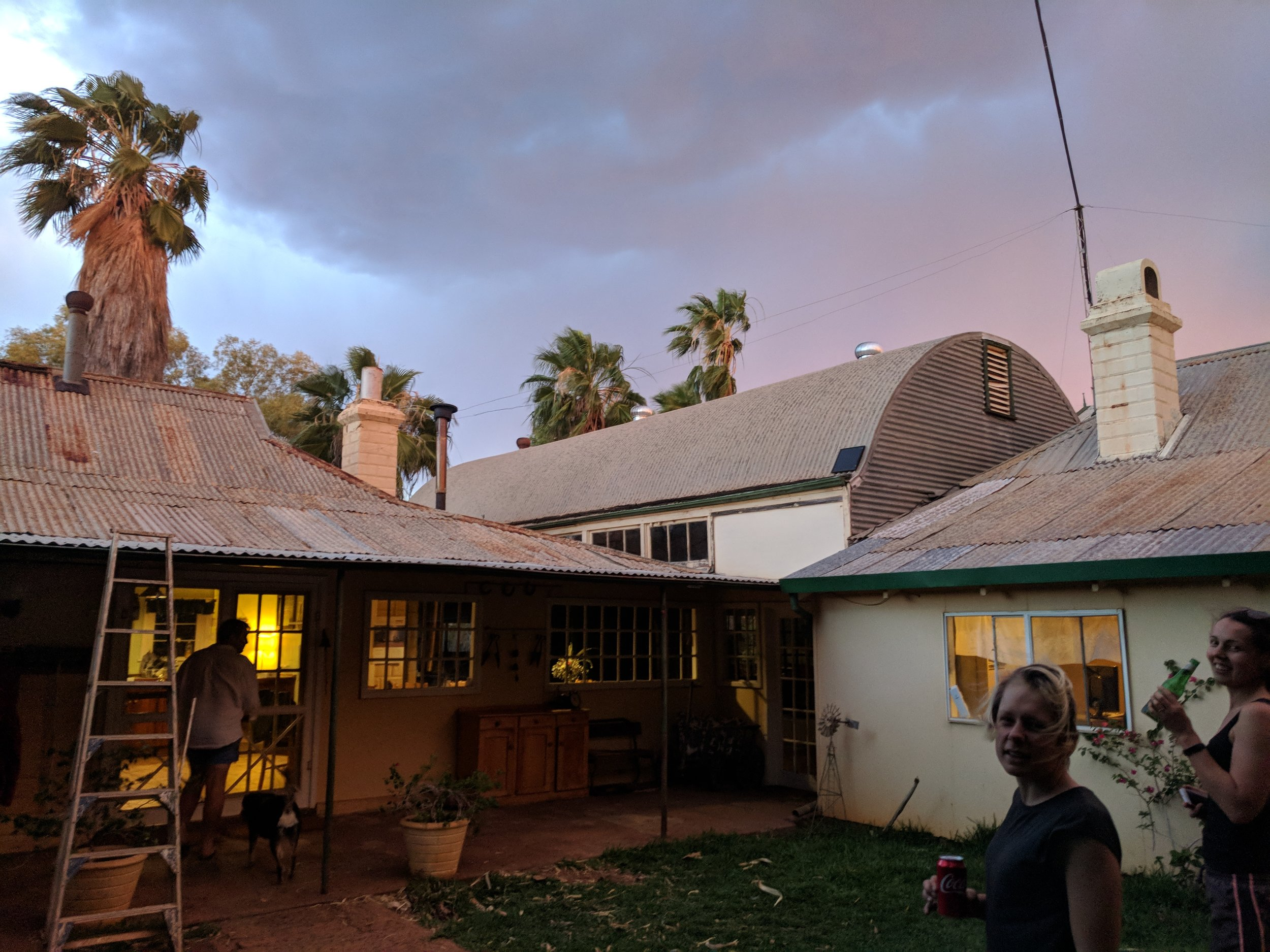Wooleen Homestead, the sprawling building complex is now flat chat in tourist season