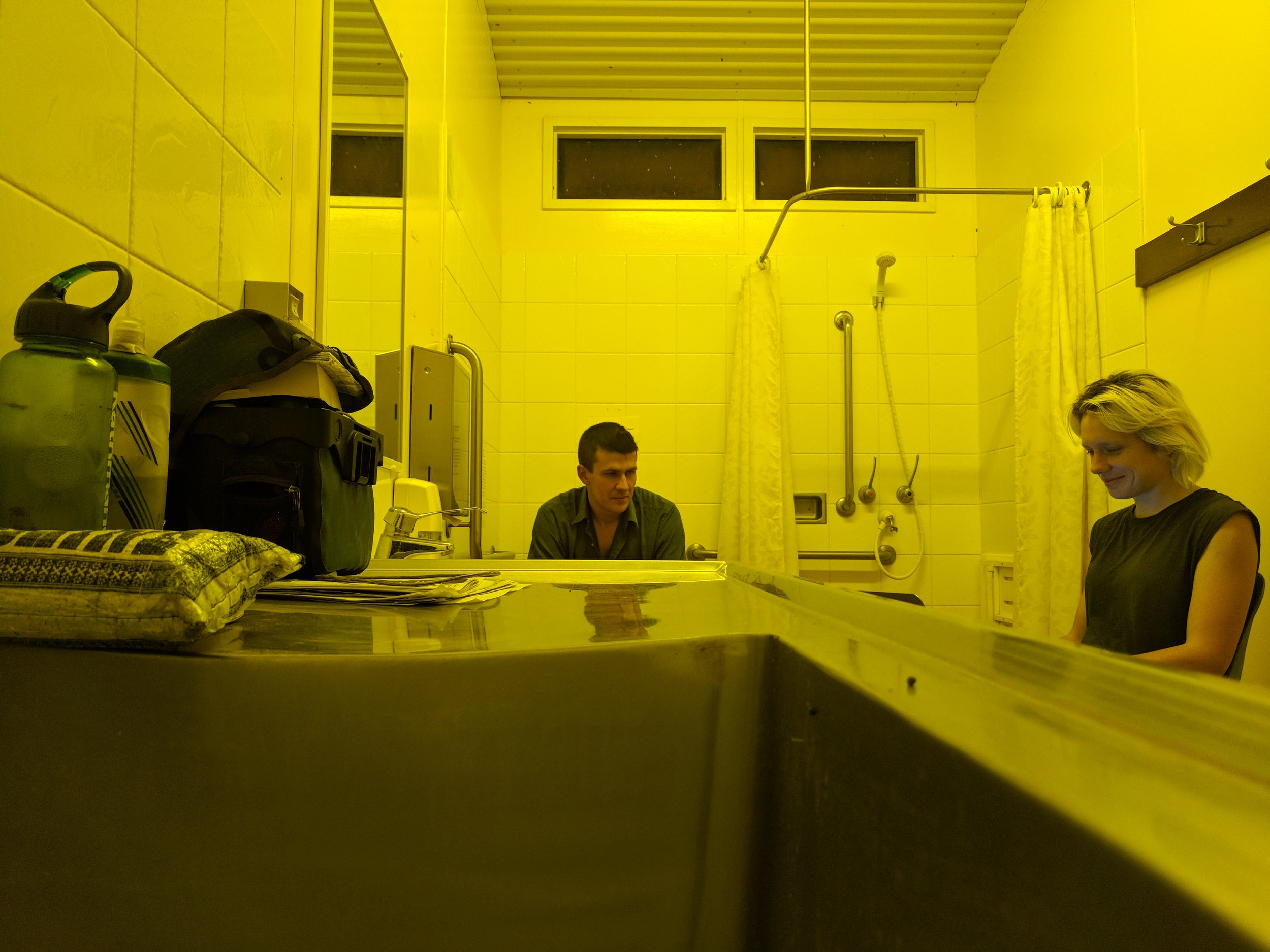 Office a'la disabled toilet.