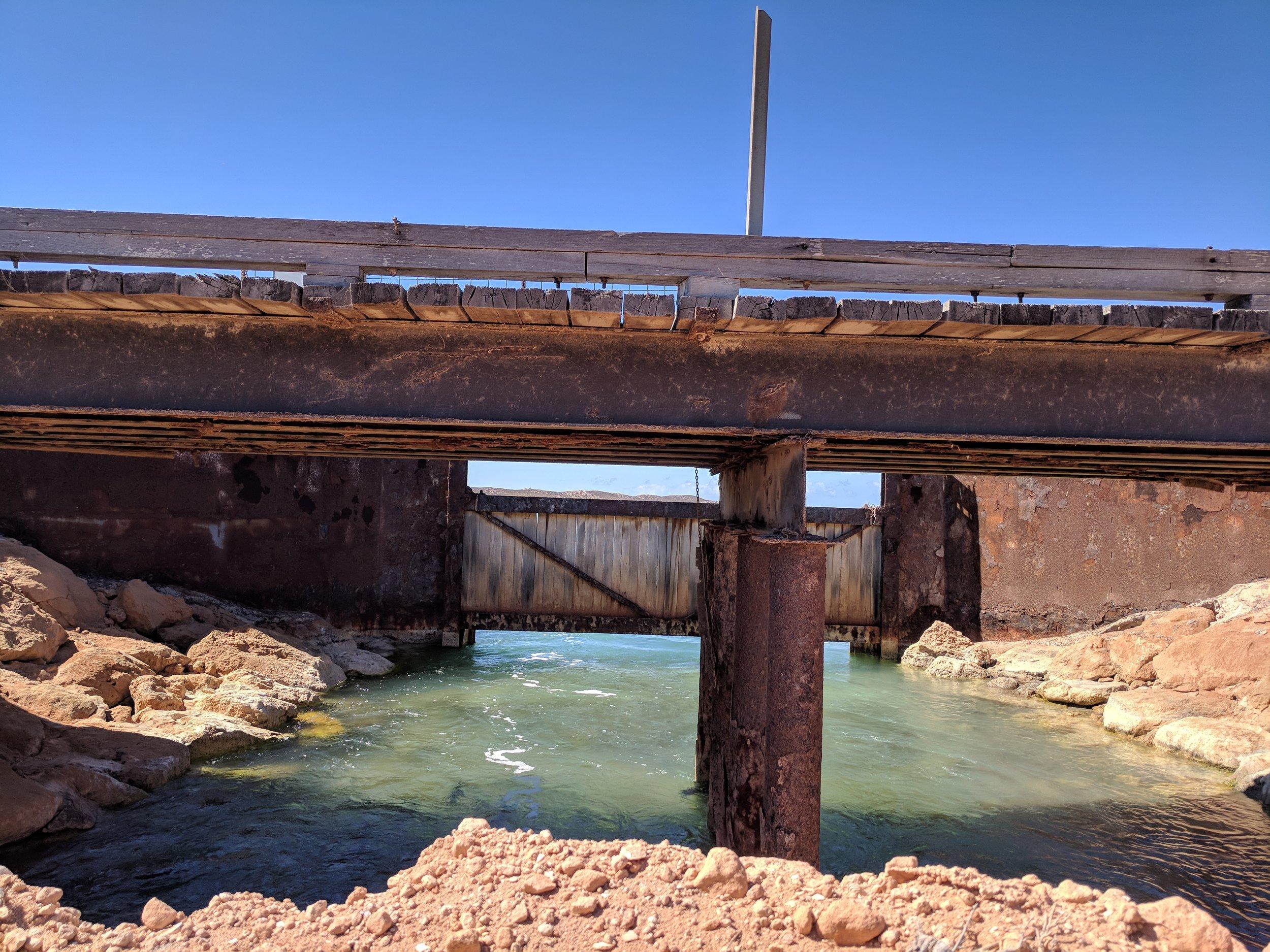 Tidal gates & rock armoured pond walls
