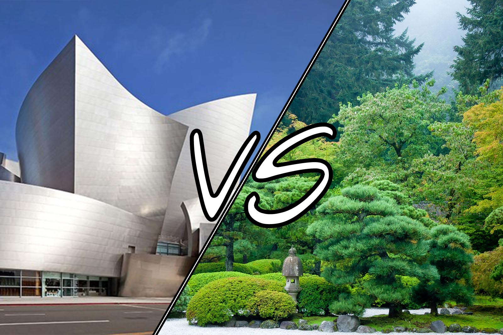 Gehry VS Garden - the ultimate architectural showdown