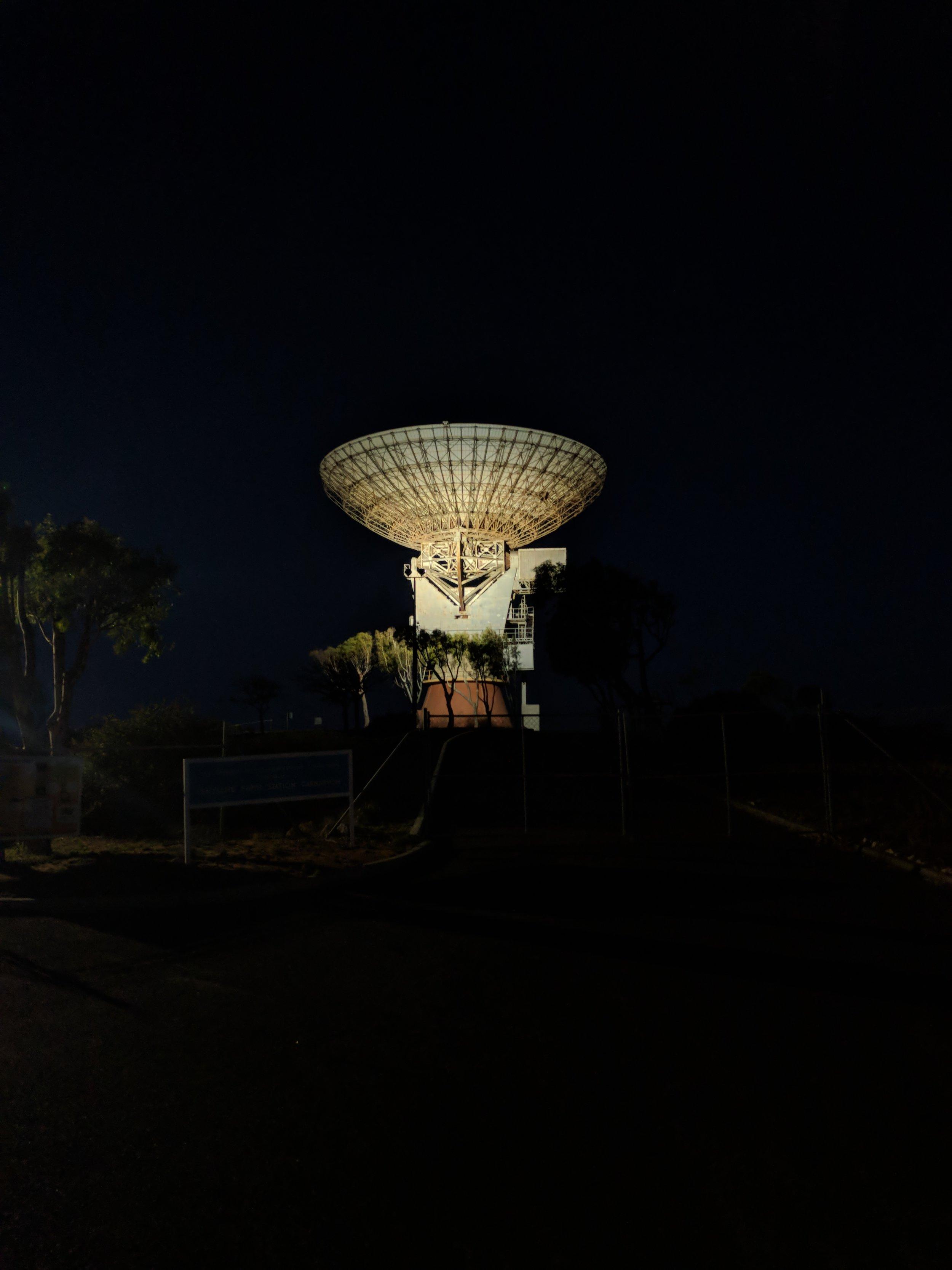 The OTC dish by night, uplighting done right!