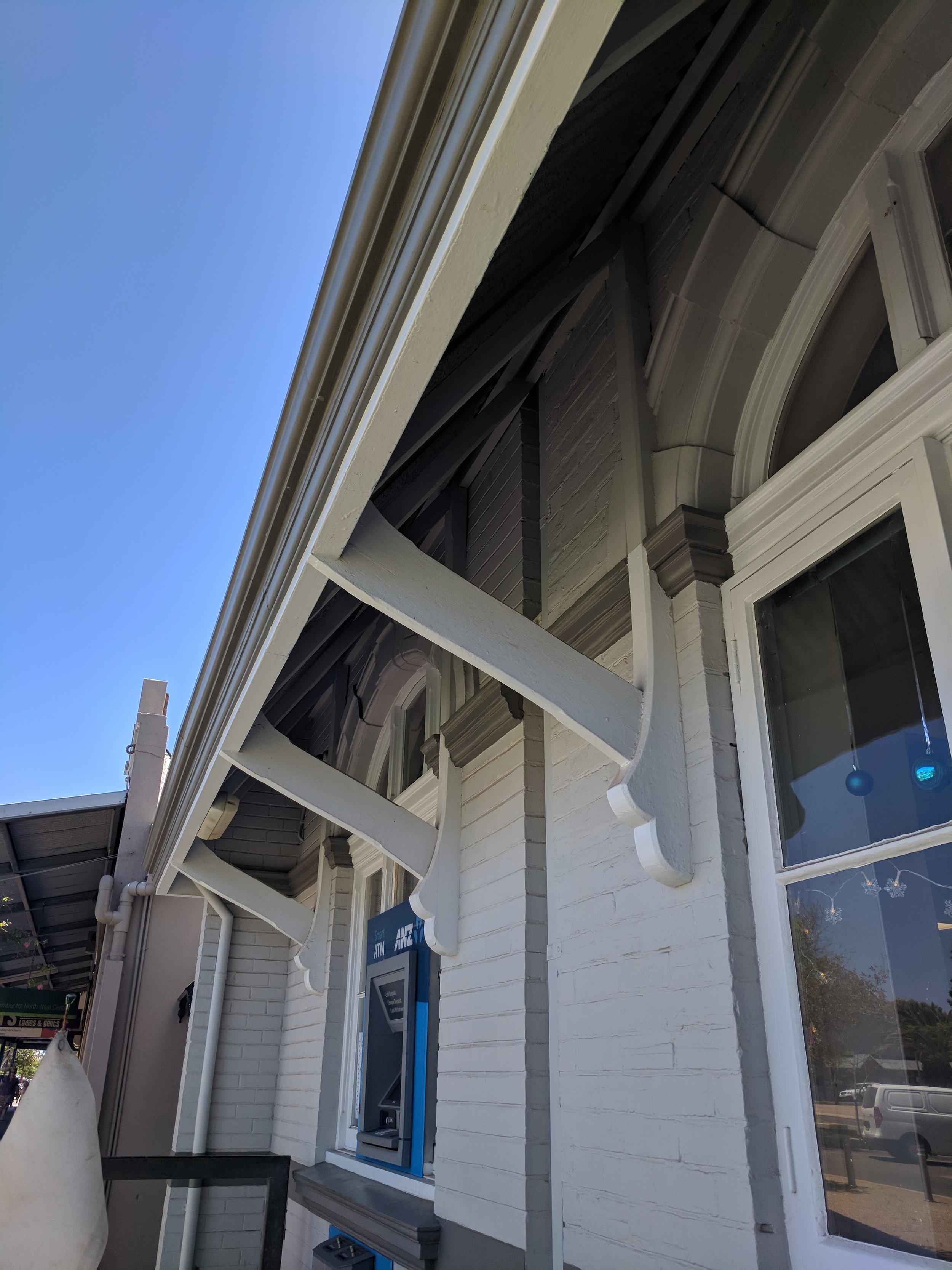 beautiful ANZ bank awning supports