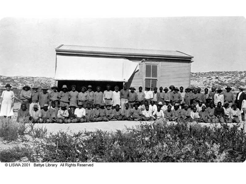 Image of a camp on Bernier Island