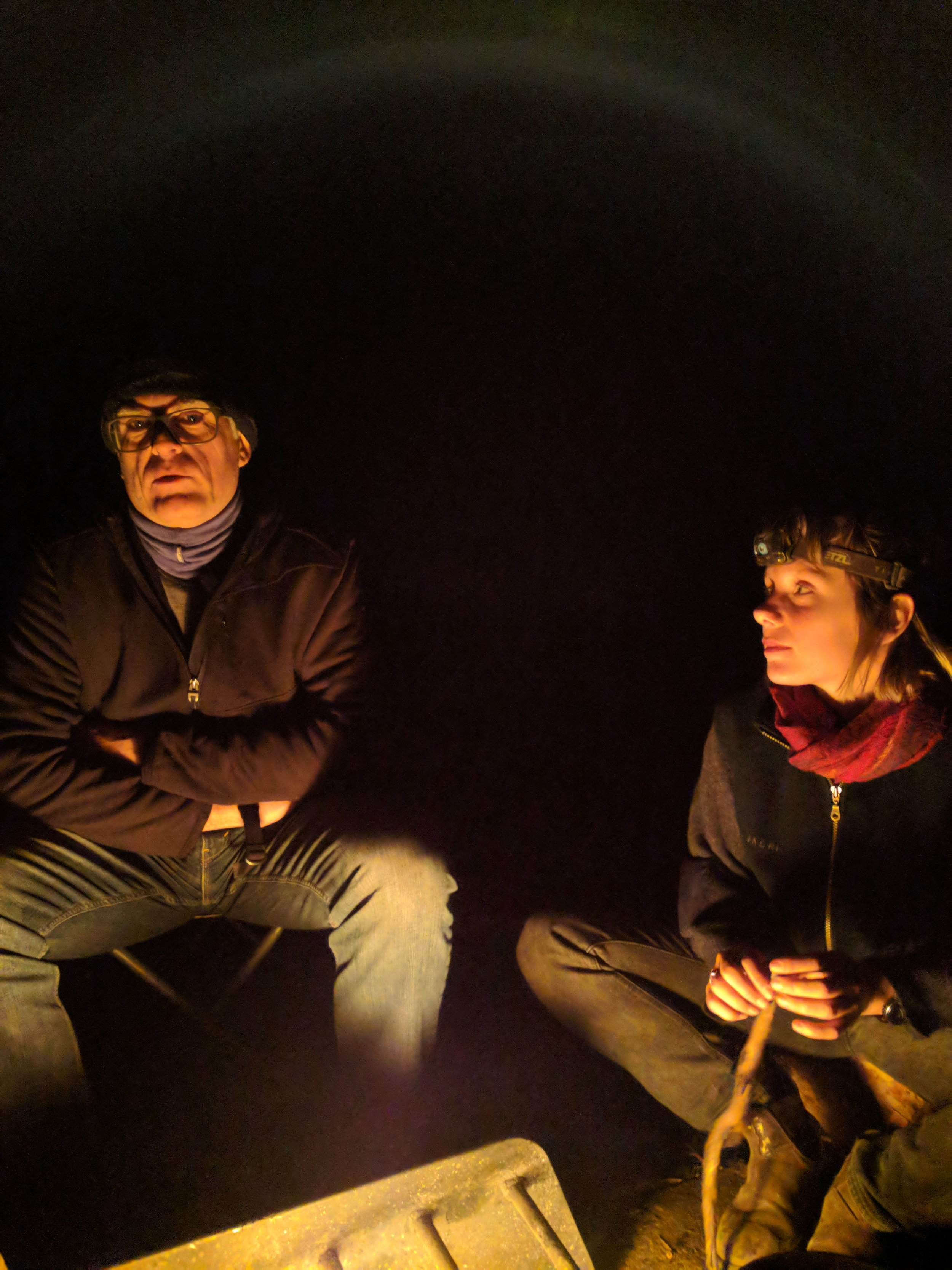 The excellent David Havercroft by firelight