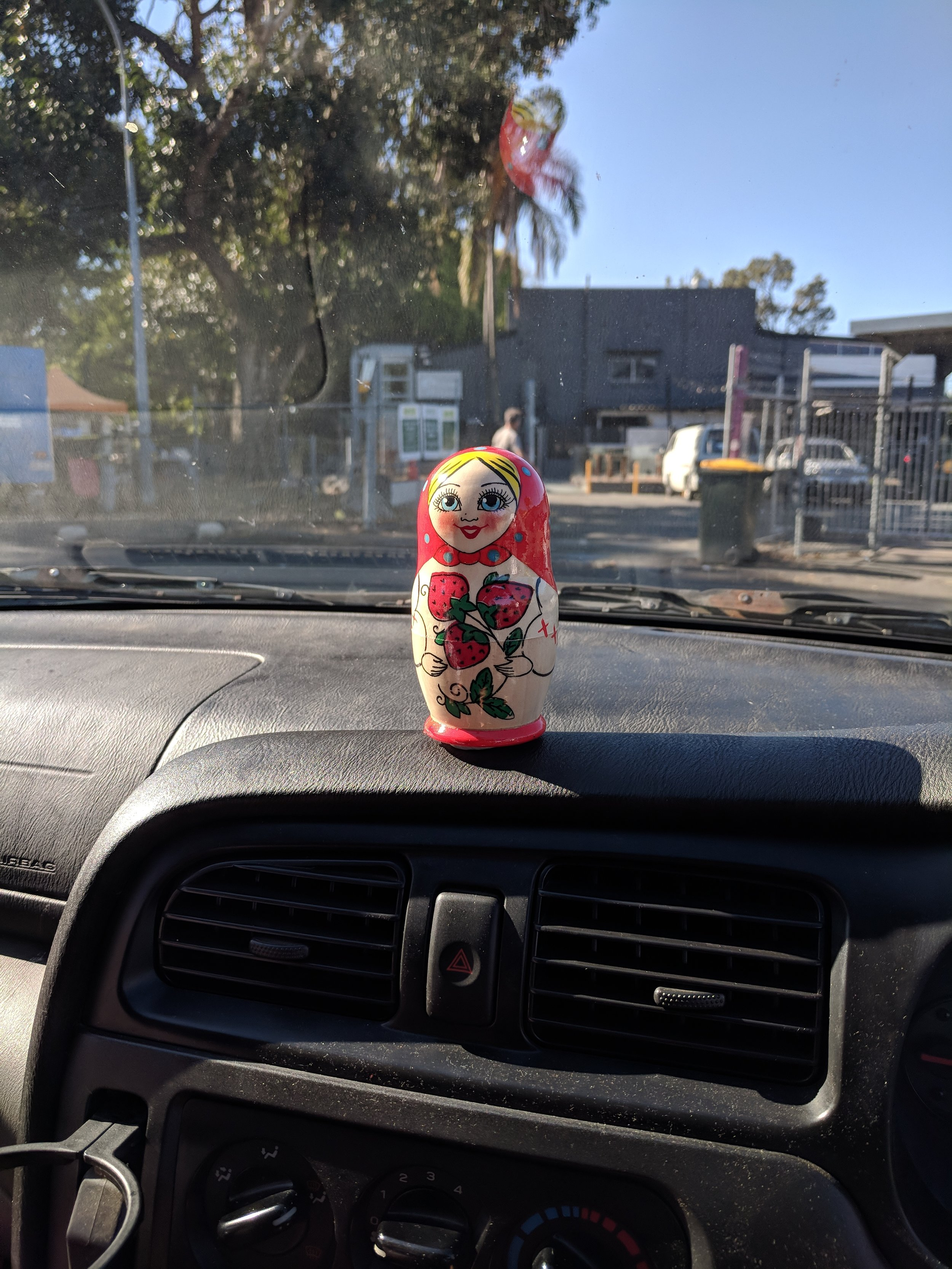 Sandra's gift/hood ornament/metaphor