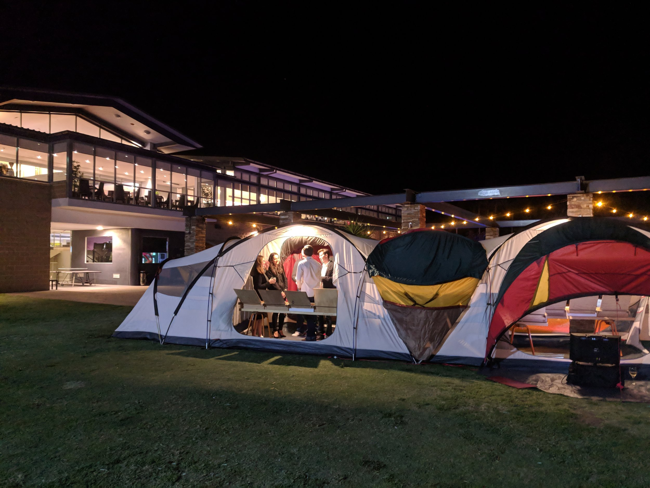 Crowne Hotel - tent looks right at home