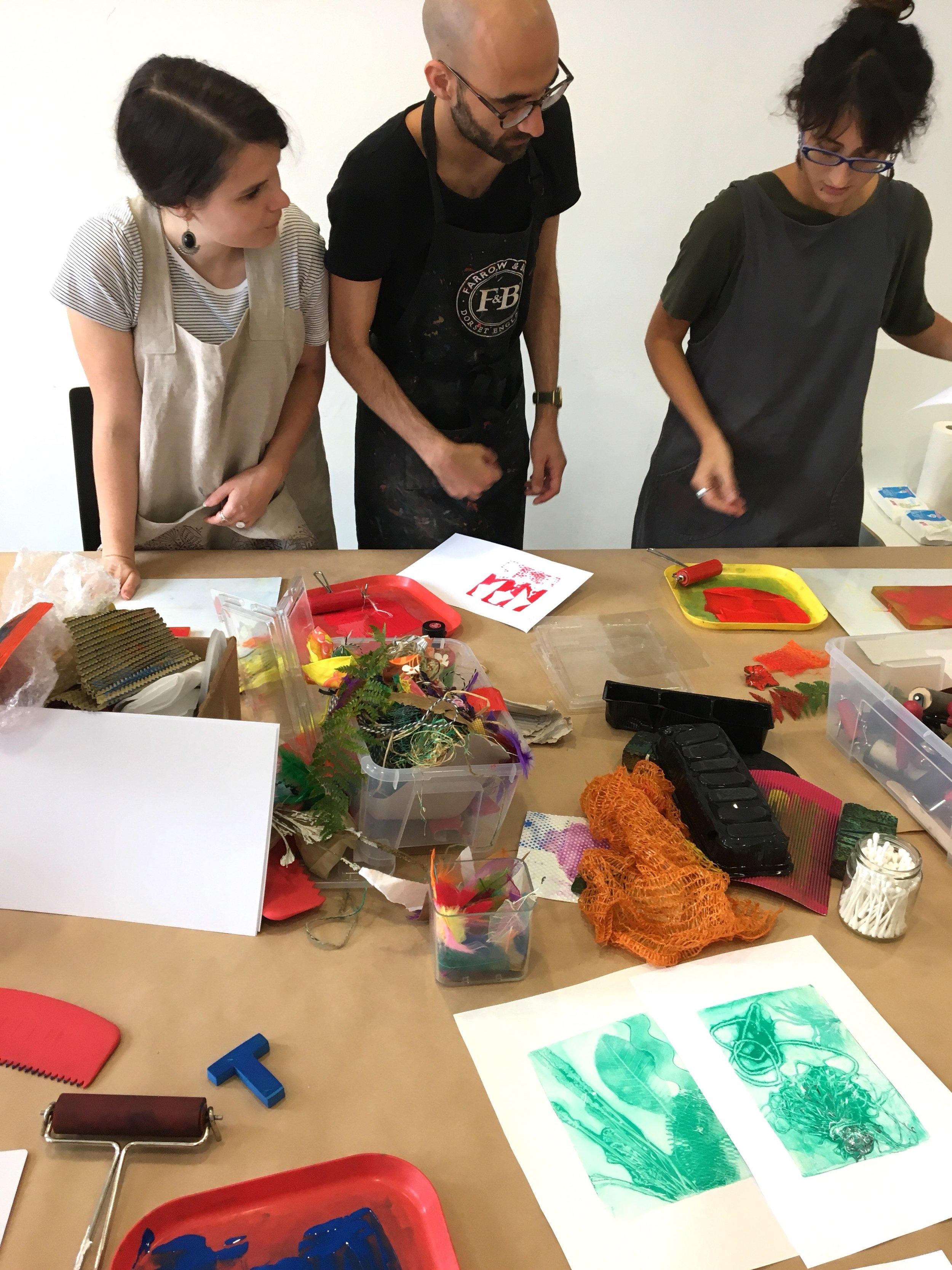 Berlin Print workshop, creative team event